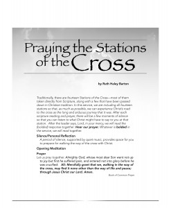 Praying the Stations of the Cross downloadable PDF