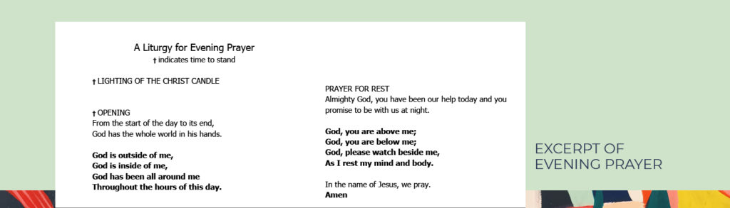 an excerpt of evening prayer