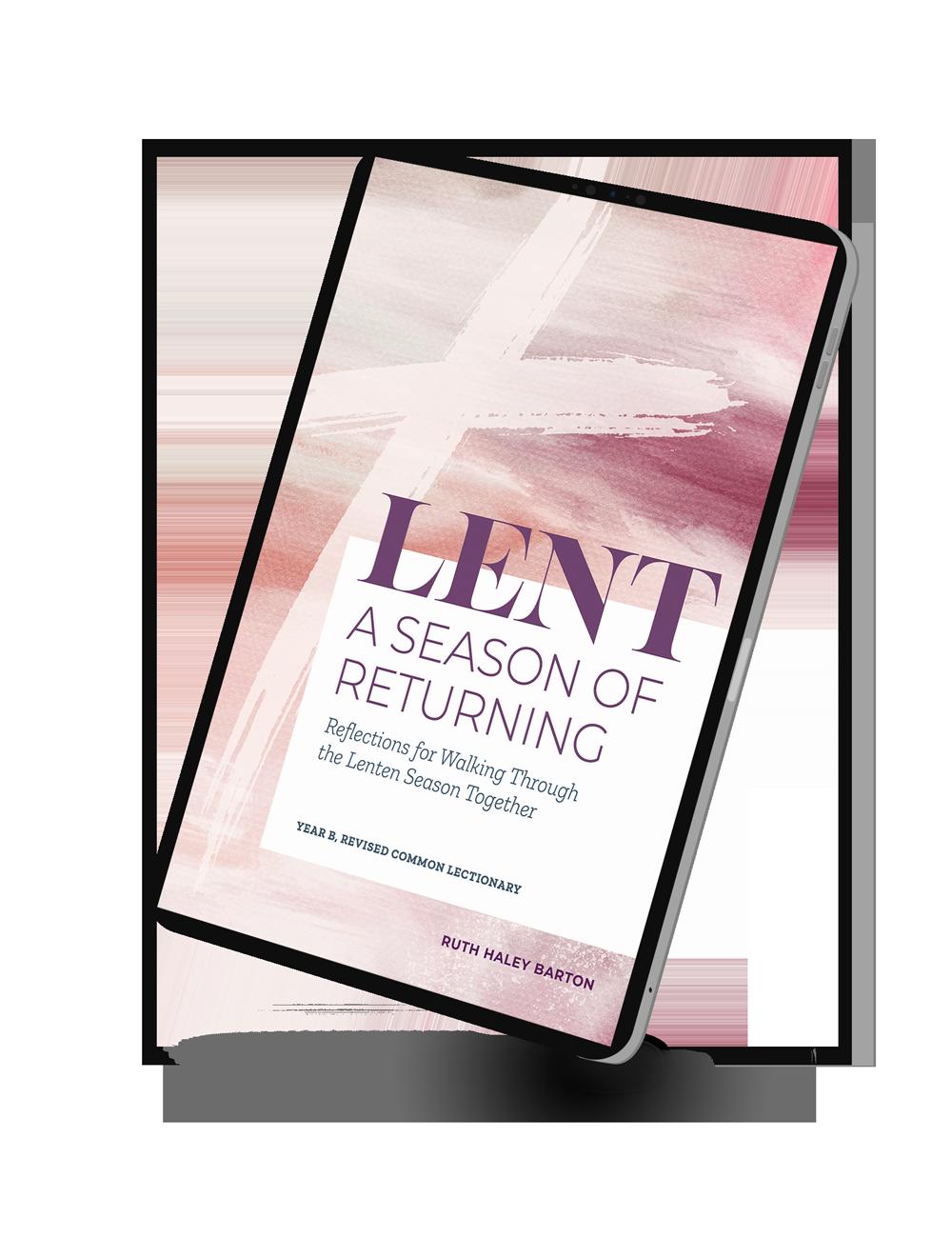 digital reader showing Lent: A Season of Returning cover