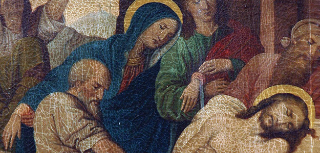 Mary Magdalene, Jesus' mother Mary, and the apostle John stayed near the cross and kept watch as Jesus suffered and died.