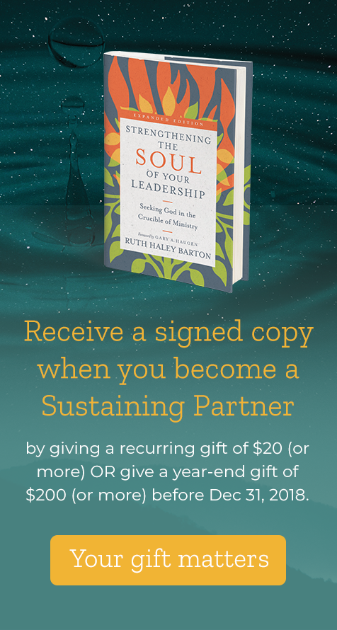 Receive a signed copy of Strengthening the Soul of Your Leadership when you become a Sustaining Partner